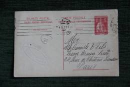 ENTIER POSTAL - De LISBONNE à PARIS, Le 21 AVRIL 1914 - Entiers Postaux