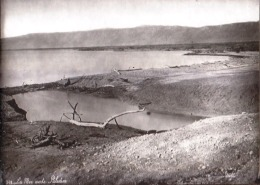 "VERY RARE ! JUDAICA - PALESTINE "" THE DEAD SEA "" - HOLY LAND - GLASS NEGATIVE FOR MAGIC LANTERN - BONFILS AROUND 1880 - Palestine"