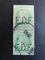 FRANCE E Paire N° 680 Céres E.D.F 56 Indice 2 Perforé Perforés Perfins Perfin Superbe !! - Gezähnt (Perforiert/Gezähnt)