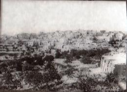 "VERY RARE ! JUDAICA - PALESTINE "" BETLEHEM "" - HOLY LAND - GLASS NEGATIVE FOR MAGIC LANTERN - BONFILS AROUND 1880 - Palestine"