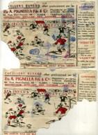 - ALGERIE FRANCAISE . LOT DE 2 BUVARDS POUR ENFANTS DE 1952 . TRES ABIMES ET INCOMPLETS . PEUT EN FAIRE 1 SEUL . - Kids