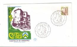 F346 - ITALIA  1983  , FDC FILAGRANO  Annullo   Venafro  : CASTELLI BOBINA 400 - F.D.C.