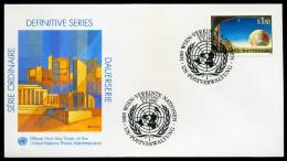 38163) UNO Wien -FDC Genf-Caschet - Michel 99 - 1,5S Freimarke - FDC