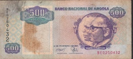 ANGOLA P128b 500 KWANZAS  1991 Signature 17  FINE NO P.h. ! - Angola