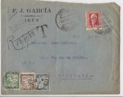 Lettre De Irun Pour Bordeaux (1933) - Taxée à 75 Cts - Taxes