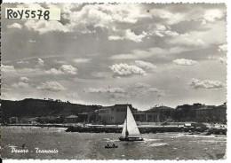 Marche-pesaro Tramonto Veduta Da Mare Pesaro Spiaggia Barca A Vela Al Tramonto - Pesaro