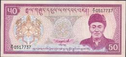 BHUTAN  P17a  50   NGULTRUM  1985 Signature 1 UNC. - Bhoutan