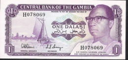 GAMBIA  P4d  1 DALASI  1971 Signature 5   UNC. - Gambia