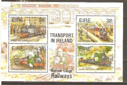 Ireland 1995 SG 945 Miniature Sheet, Irish Narrow Guage Railways Unmounted Mint - Used Stamps