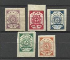 LETTLAND Latvia 1919 = 5 Werte Aus Michel 15 - 23 * - Lettland
