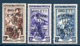 1951 TRIESTE  Trieste A  Serie Completa Nuova ** MNH - Nuovi