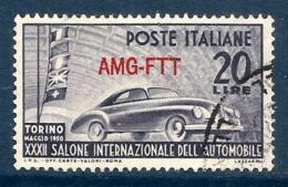 1951 AUTO  Trieste A  Serie Completa Usata - Usati