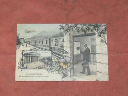 PARIS    1910   FANTAISIE THEME TRAIN EN GARE   EDIT  CIRC OUI - Tarjetas De Fantasía