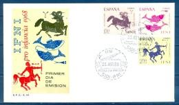 IFNI , ED. 233 / 235 , SOBRE DE PRIMER DIA , PRO INFANCIA 1968 - Ifni