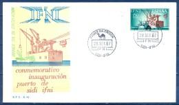 IFNI , ED. 229 , SOBRE DE PRIMER DIA , PUERTO DE SIDI IFNI - Ifni