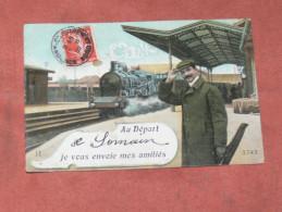SOMAIN   / ARDT DOUAI    1910   FANTAISIE THEME TRAIN EN GARE   EDIT  CIRC OUI - Tarjetas De Fantasía