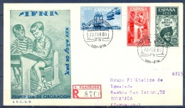 IFNI , ED. 209 / 211 , SOBRE DE PRIMER DIA , XXV AÑOS DE PAZ , CIRCULADO A IGUALADA , LLEGADA - Ifni
