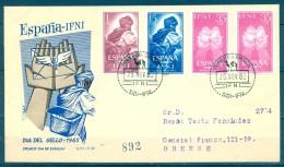 IFNI , ED. 190 / 192 , SOBRE DE PRIMER DIA , DIA DEL SELLO 1962 , CIRCULADO A ORENSE , LLEGADA - Ifni