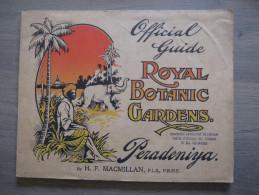 Official Guide Royal Botanic Gardens Peradeniya (Kandy Sri Lanka) 1906 + Carte Macmillan - Tourism Brochures