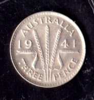 Australia 1941 Threepence EF - Sterling Coinage (1910-1965)