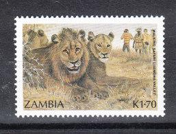 Zambia   -   1987. Leoni. Turismo. Lions, Tourism.  MNH - Felini