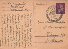 DR 6 Pf. Ganzsache-postkarte Mi. P 299-II GREIFWALD 31.8.1942 - Deutschland