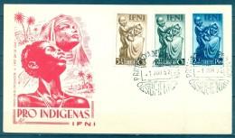 IFNI , ED. 79 / 81  , SOBRE DE PRIMER DIA  , PRO INDÍGENAS DE 1952 - Ifni