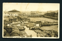 ENGLAND  -  Weston Super Mare  Winter Gardens And Pavilion  Used Vintage Postcard As Scans - Weston-Super-Mare