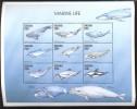 TANZANIA   1852 **  MINT NEVER HINGED MINI SHEET OF FISH-MARINE LIFE  ; WHALES - Meereswelt