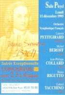 """Carte Postale édition """"Dix Et Demi Quinze"""" - Johann Sebastian Bach - Salle Pleyel - Concertos Pour 2, 3 & 4 Pianos - Music And Musicians"""