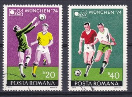 SOCCER FOOTBALL WORLD CHAMPIONSHIP - MUNDIAL - ROMANIA 1974 Used Never Hinged With Gum - Coppa Del Mondo
