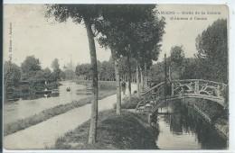 80,Somme,AMIENS, Bords De La Somme D'Amiens à Camon, Personnage,Scan Recto-Verso - Amiens