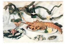 Gastronomie Française ; FRUITS DE MER ; Coquillage HUITRES , Palourdes, Homard , Vin Muscadet + Flamme PTT CNE 1964, TB - Recipes (cooking)