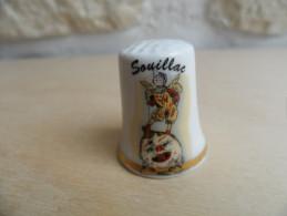 """DS)Dé A Coudre En Porcelaine """" Soullac """" - Dés à Coudre"""