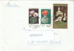 DDR 1974 MiNr. 1922, 1924, 1893  Kakteen (mit Sperrwert)  Auf  Brief In Die Schweiz - Storia Postale