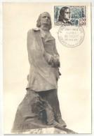 CM - Carte Maximum Card - 1963 - YT 1375 - Alfred De Vigny - Loches - Maximumkaarten