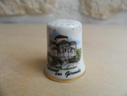 """DT)Dé A Coudre En Porcelaine """" Talmont Sur Gironde """" - Dés à Coudre"""