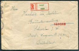 1941 Hungary Lengyel Registered Censor Cover - Schweln Germany Deutsch