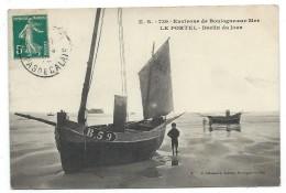 CPA - ENVIRONS DE BOULOGNE SUR MER  LE PORTEL  DECLIN DU JOUR - 62 - Circulé 1910 - Animée, Enfant - Edit. E. Stevenard - Le Portel