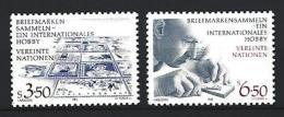 NATIONS-UNIES Vienne 1986 Yvert N° 60 Et 61 Neuf ** Sans Charnière Never Hinged - Centre International De Vienne