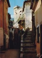 (06 ) ROQUEBRUNE  Le Chateau Vu D'une Vieille Rue Du Village   (scan Recto-verso) - Roquebrune-Cap-Martin