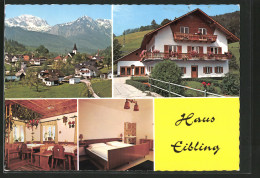 AK Neukirchen, Pension Haus Eibling, Ortsansicht - Austria