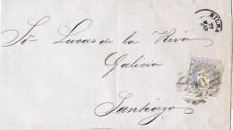 17951. Envuelta BILBAO 1870. Alegoria España. Parrilla Numeral 20 - Cartas