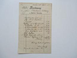 Rechnung 1911 Kunst Und Handelsgärtnerei Walter Jacoby Aus Versomold / Oesterweg. Kirschlorbeer / Lebensbäume - 1900 – 1949
