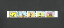 1986 – Libya-  Children's Day- Butterfly- Fish- Camel-  Music – Football- Mushroom - Minisheet MNH** - Libya