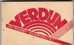 VERDUN (55)Ses Ruines Glorieuses -Carnet De 15 Cartes (toutes Scannées)nombreuses Cartes Animées - Verdun