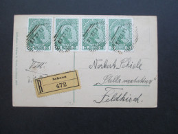 AK 11.12.1913 Österreich Feldkirch Verwendet In Liechtenstein Nr. 1x MeF Reko / R-Zettel Schaan 472. RAR!!!