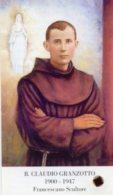 Santino BEATO CLAUDIO GRANZOTTO Francescano Scultore Con RELIQUIA (Ex-indumentis) - PERFETTO M63 - Religione & Esoterismo