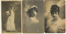3 Cartes Photos Actrice Cubaine Cuba La Bella Mimi Autographe Etat Moyen - Artistes
