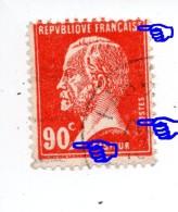 """YT 178 Pasteur - Variété Parasite + De Piquage + """"Tête De Nègre"""" - Flamme Paris - Curiosa: 1931-40 Afgestempeld"""